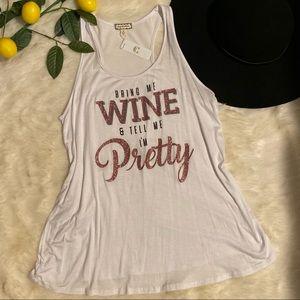 BNWT wine saying tank
